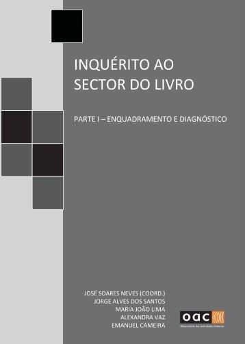 inquérito ao sector do livro parte i - Observatório das Actividades ...