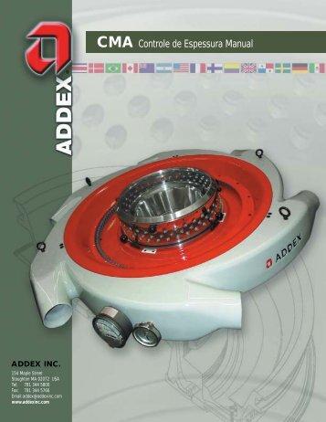CMA Controle de Espessura Manual - addex inc.