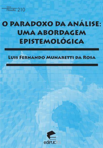 O paradoxo da análise : uma abordagem epistemológica - pucrs