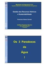 Os 3 Paradoxos da Água ! - Universidade Técnica de Lisboa