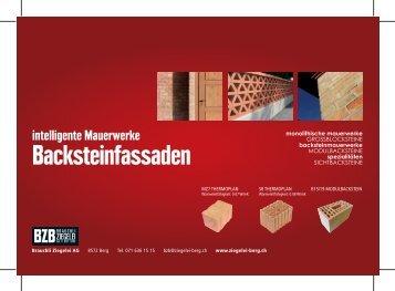 Intelligente MauerwerkeBacksteinfassaden - Brauchli Ziegelei Berg ...