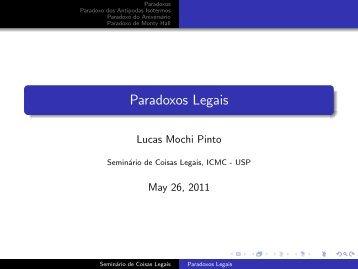 Paradoxos Legais - ICMC - USP