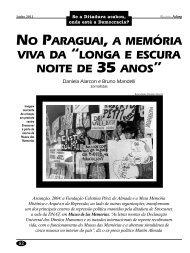 No Paraguai, a memória viva da