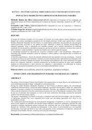 Gabinete Ecológico: Inovação x Tradição Paraibana - Centro de Artes