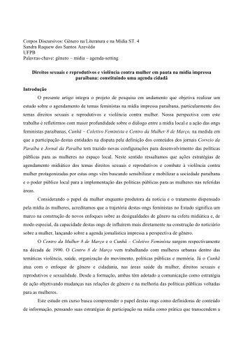 Gênero na Literatura e na Mídia ST. 4 Sandra Raquew dos Santos ...
