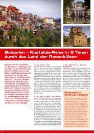 Bulgarien – Nostalgie-Reise in 8 Tagen durch ... - Zermatt Rail Travel