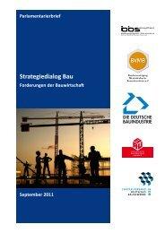 Parlamentarier- brief - Bundesverband Baustoffe - Steine und Erden