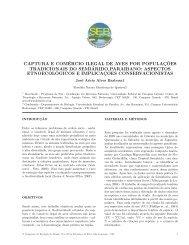 Captura e Comércio Ilegal de Aves por Populações Tradicionais do ...