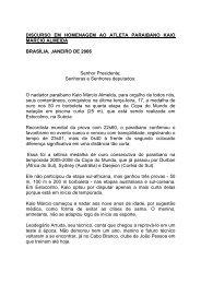 DISCURSO EM HOMENAGEM AO ATLETA PARAIBANO KAIO ...