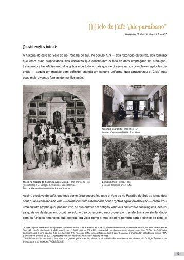 O Ciclo do Café Vale-paraibano* - Instituto Cidade Viva