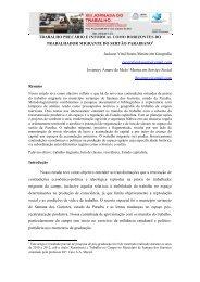 TRABALHO PRECÁRIO E INFORMAL COMO HORIZONTES DO ...