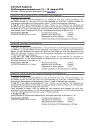 Flyer DFB Individual-Angebote - Zermatt Rail Travel