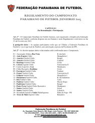 REGULAMENTO DO CAMPEONATO PARAIBANO DE FUTEBOL ...
