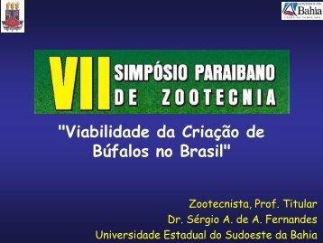 Viabilidade da criaçao de bufalos no Brasil