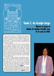 Fala de posse Tânia - Instituto Oswaldo Cruz - Fiocruz