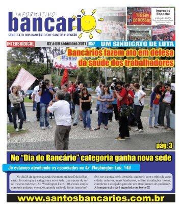 Impresso Especial - Sindicato dos Bancários de Santos e Região