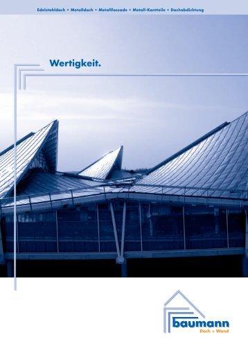 Broschüre Wertigkeit - Baumanndach.de