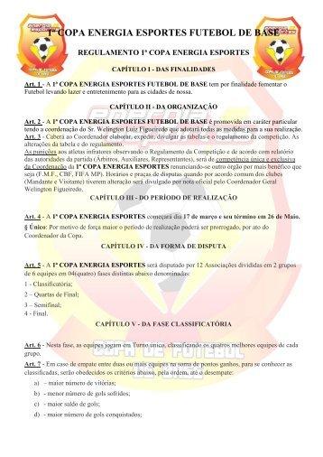 regulamento - Futebol Mineiro