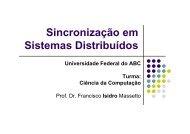 Aula 06 - Sincronização em Sistemas Distribuídos