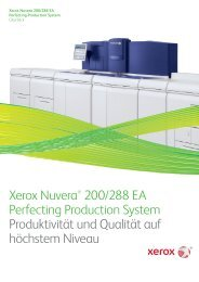 Xerox Nuvera® 200/288 EA Perfecting Production System ...