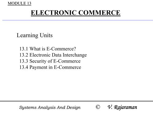 Electronic Commerce Nptel