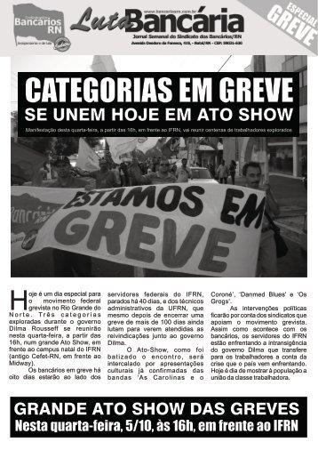 Jornal - Especial Greve - Sindicatos dos Bancários RN