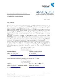 SIS letter B to AMADEUS Customers - Ziemer