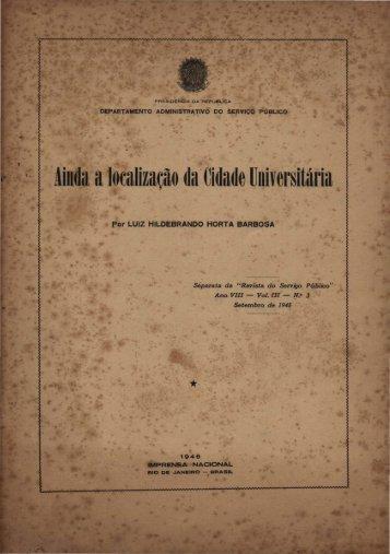 BARBOSA, Luiz Hildebrando Horta. Ainda a localização da