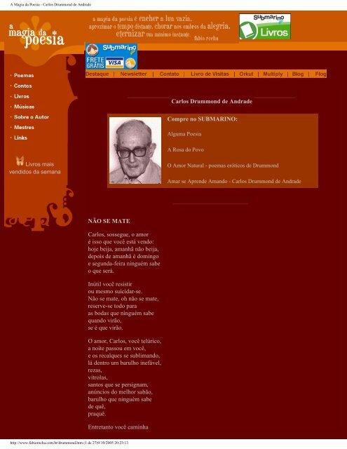 Carlos Drummond de Andrade - Rede de Projetos