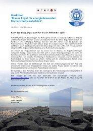 Blauer Engel für energiebewussten Rechenzentrumsbetrieb