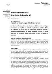 PostAuto optimiert Angebot im Knonaueramt - Wettswil am Albis