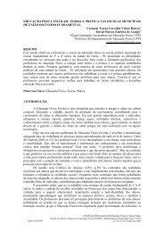 educação física escolar: teoria e prática nas escolas - UFPI