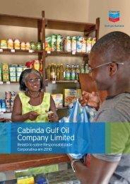 Responsabilidade Corporativa da Chevron em 2010 - Início