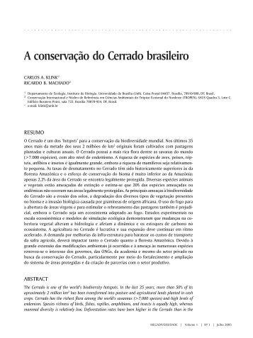 147 A conservação do Cerrado brasileiro - Conservação Internacional