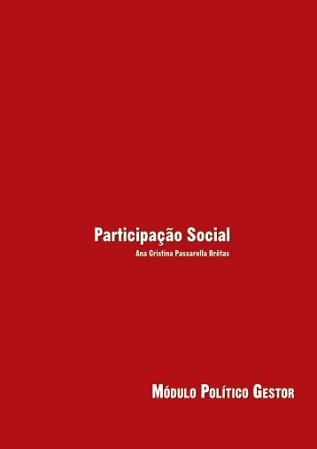 Participação Social - Portal UnA-SUS/UNIFESP
