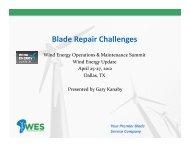 Wind Turbine Blade Repair Challenges - Wind Energy Services