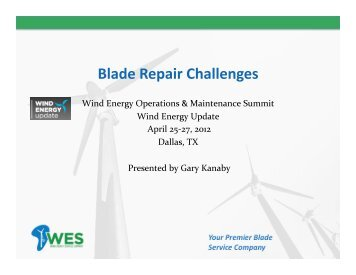 Wind Turbine Blade Repair Challenges - Wind Energy Services