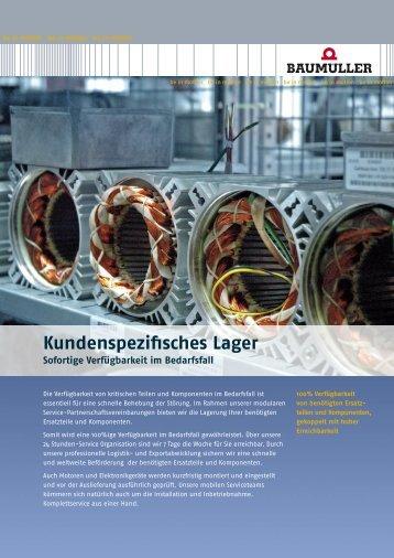 Kundenspezifisches Lager - Baumueller-services.com