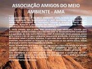 A ASSOCIAÇÃO AMIGOS DO MEIO AMBIENTE - AMA, fundada ... - fijo