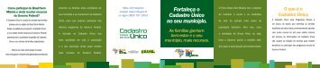 Folder - Cadastro Único - Brasil sem Miséria