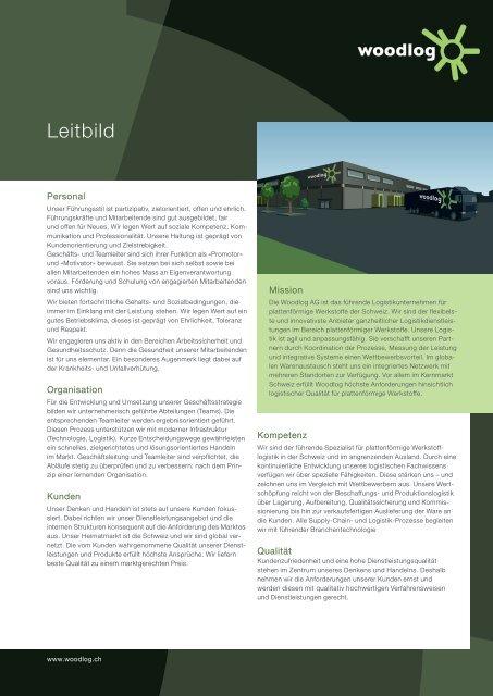 Leitbild - Woodlog AG