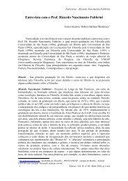 ENTREVISTA: Prof. Dr. Ricardo Fabbrini - Faculdade de Filosofia e ...