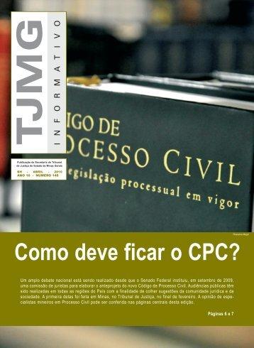 Como deve ficar o CPC? - Tribunal de Justiça de Minas Gerais