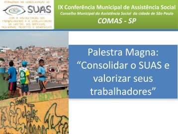 Palestra Magna - Prefeitura de São Paulo