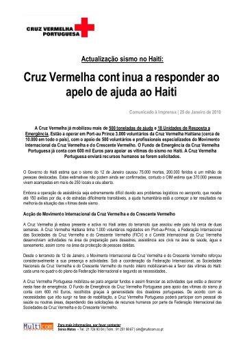 Actualização - Cruz Vermelha Portuguesa continua a responder ao