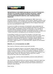 carta aberta redigida pela comunidade Watoriki - Povos Indígenas ...