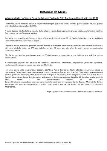 Revolução de 1932 e a Santa Casa de São Paulo - Irmandade da ...
