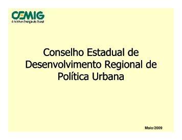 Programas da CEMIG - Secretaria de Estado de Desenvolvimento ...