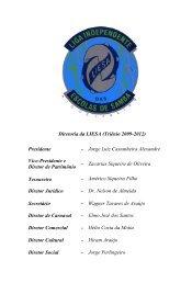 Diretoria da LIESA (Triênio 2009-2012) Presidente - Jorge Luiz ...