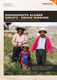 Mikrokredite: kleiner einsatz – grosse Wirkung - World Vision Schweiz